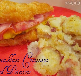Breakfast Croissant and Potatoes