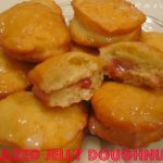 Glazed Jelly Doughnuts