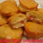 Glazed Jelly Doughnuts