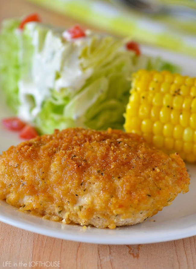Ranch Chicken is one of the most delicious chicken recipes you'll ever try! The outside coating is crispy and packed with flavor and the inside is tender and juicy!