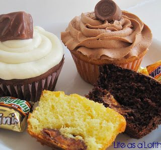 Candy Bar Cupcakes with Quick and Delicious Buttercream Frosting