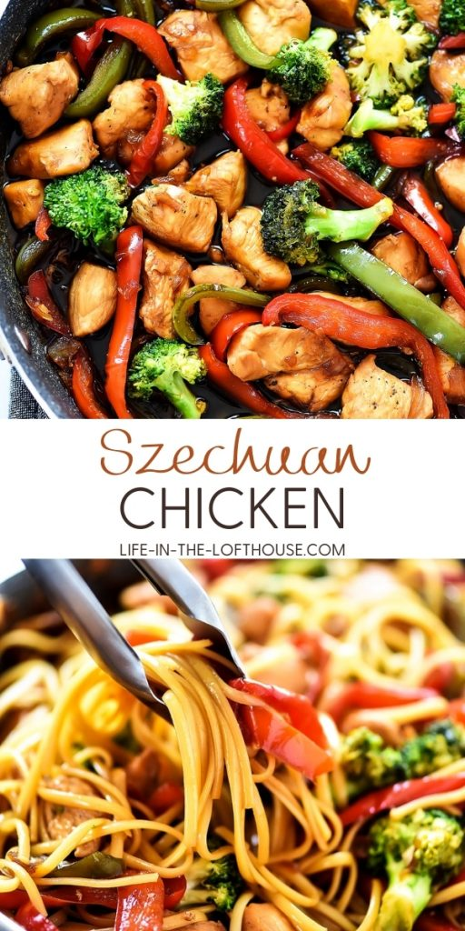 Szechuan Chicken pasta is loaded with flavor from the Teriyaki gourmet sauce, grilled chicken and veggies. Life-in-the-Lofthouse.com