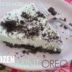 Frozen Mint Oreo Pie