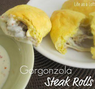 Gorgonzola Steak Rolls