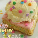 Cake Batter Blondies