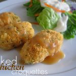 Baked Chicken Croquettes