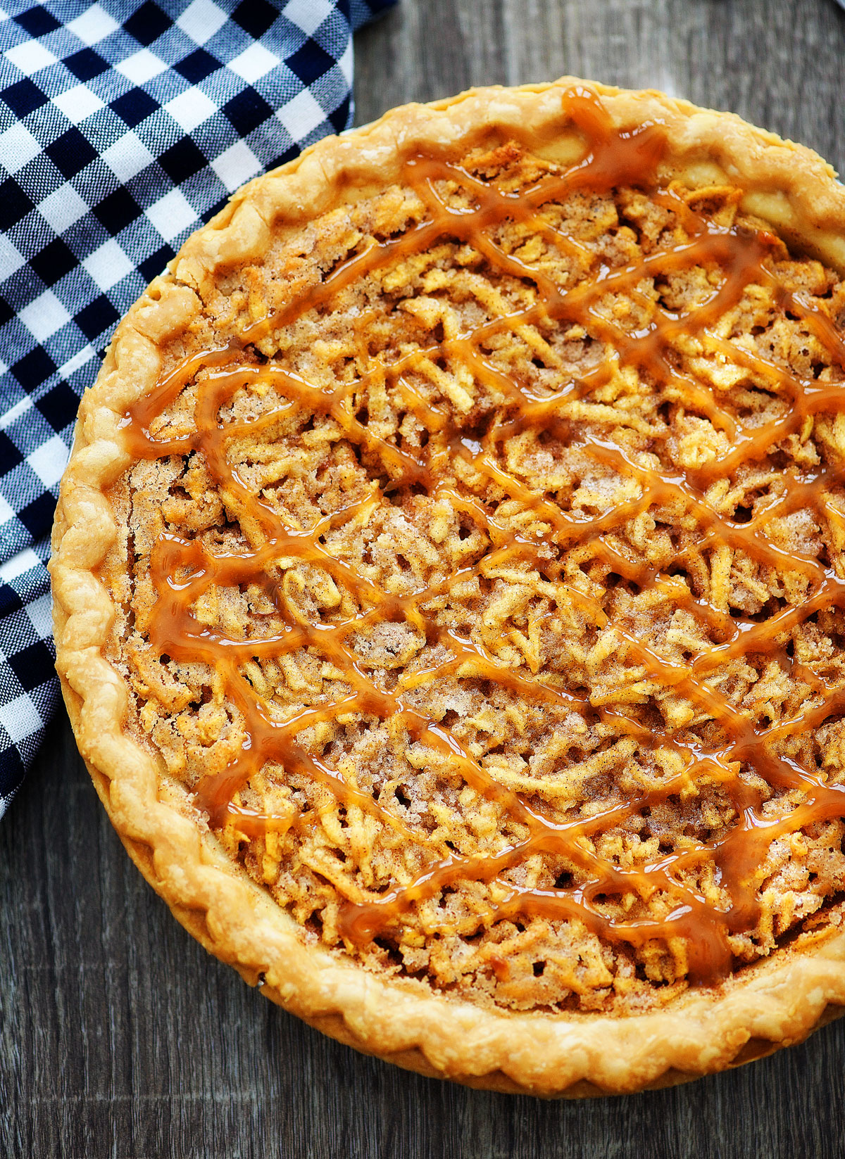 Shredded Apple Pie is filled with grated red apples and has cinnamon flavor. Life-in-the-Lofthouse.com