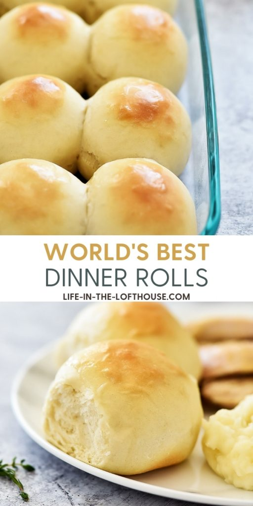 World's Best Dinner Rolls are golden, soft and buttery homemade rolls. Life-in-the-Lofthouse.com