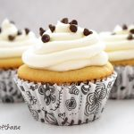Chocolate Chip Cookie Dough Cupcakes with Classic Vanilla Buttercream Frosting