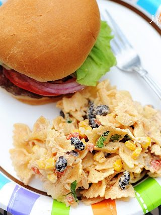 Fiesta Chicken Pasta Salad {Kraft Contest & Virtual BBQ}