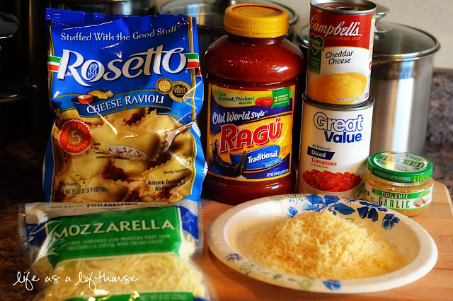 Crock Pot Cheesy Ravioli