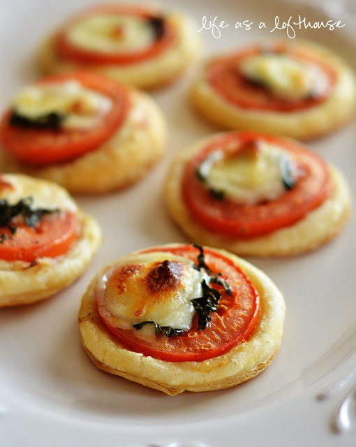 Tomato and Mozzarella Tarts