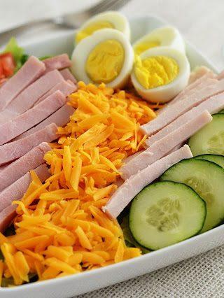 Chef Salad with Honey Mustard Dressing