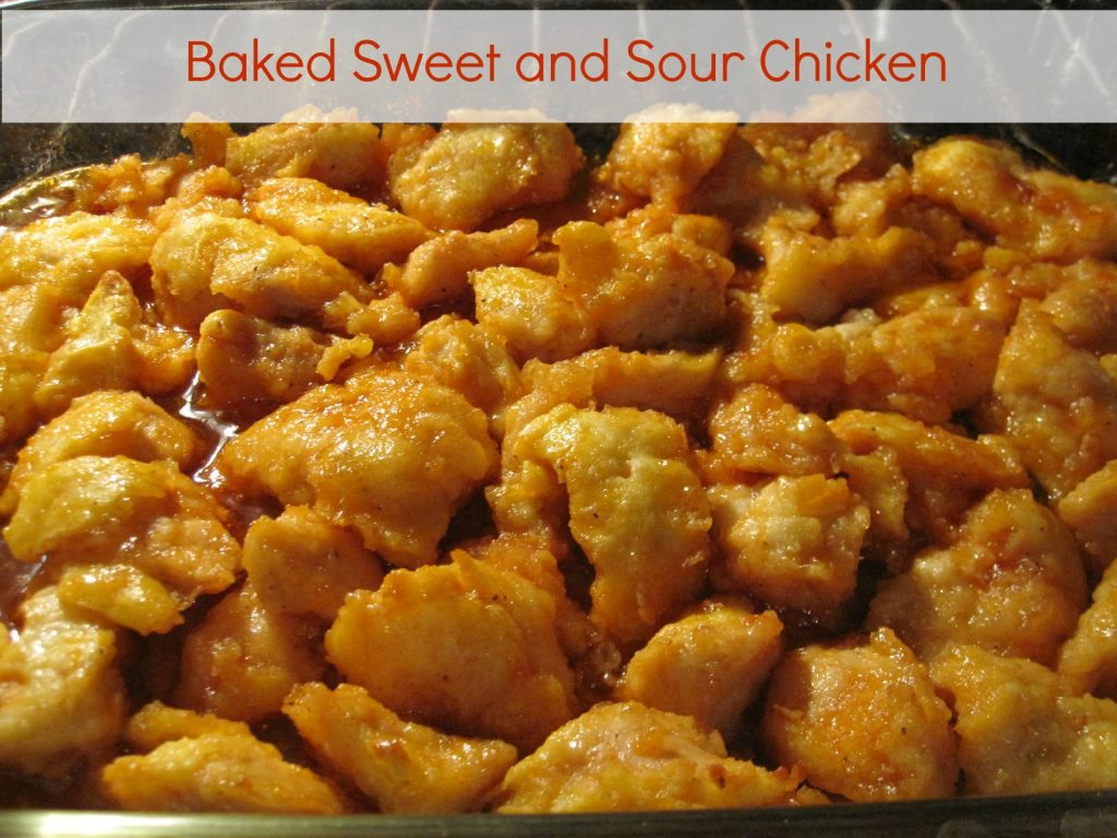 Delicious sweet and sour chicken that is baked in the oven and served with a side of flavorful fried rice. Life-in-the-Lofthouse.com