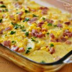 Scalloped Potatoes, Ham and Corn Bake