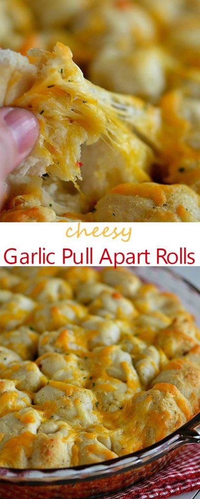 Soft pull apart rolls that are covered in cheese and full of garlic flavor. Life-in-the-Lofthouse.com