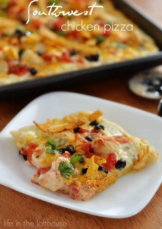 Southwest Chicken Pizza