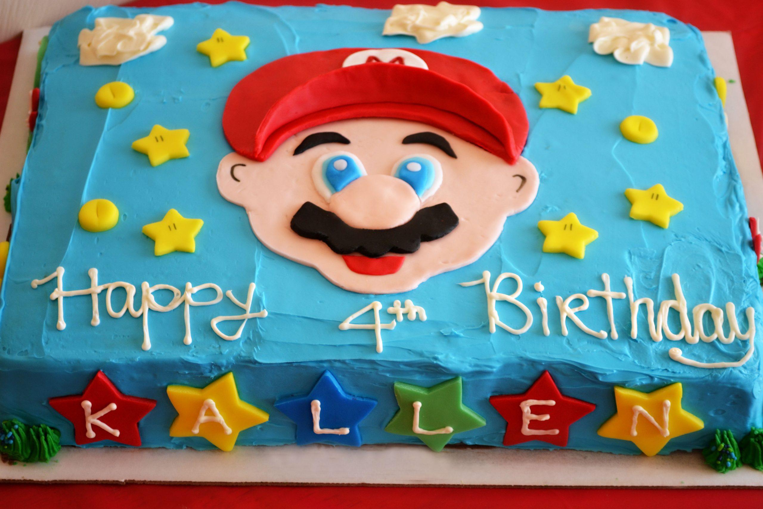 Mario Brothers Cake Decorating Ideas