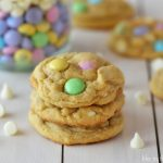 White Chocolate Chip and M&M Pudding Cookies