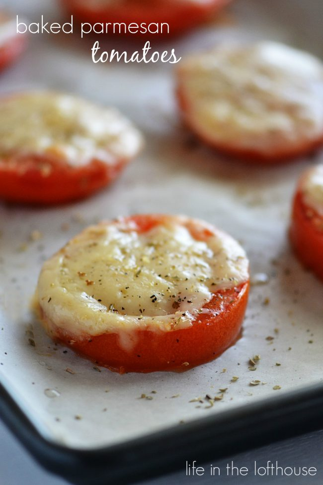 Baked Tomatoes with parmesan cheese