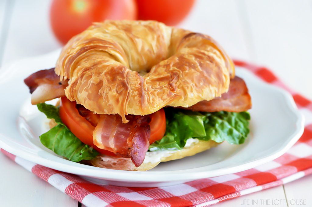 BLT Ranch Croissants are bacon, lettuce and tomato sandwiches made on croissants with ranch dressing.