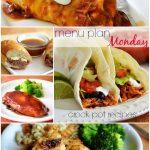 Menu Plan Monday ~ Crock Pot Recipes