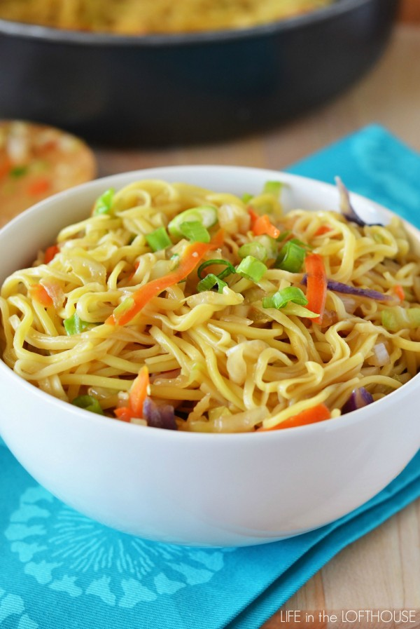 Chow Mein is delicious noodles filled with fresh veggies and Chinese flavor. Life-in-the-Lofthouse.com