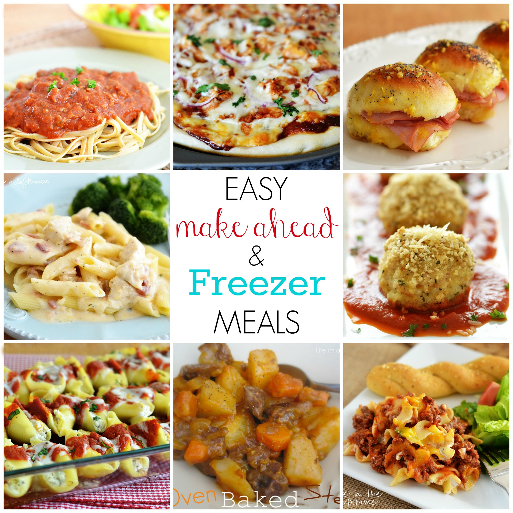 Easy make ahead and freezer meals for Good quick meals to make for dinner