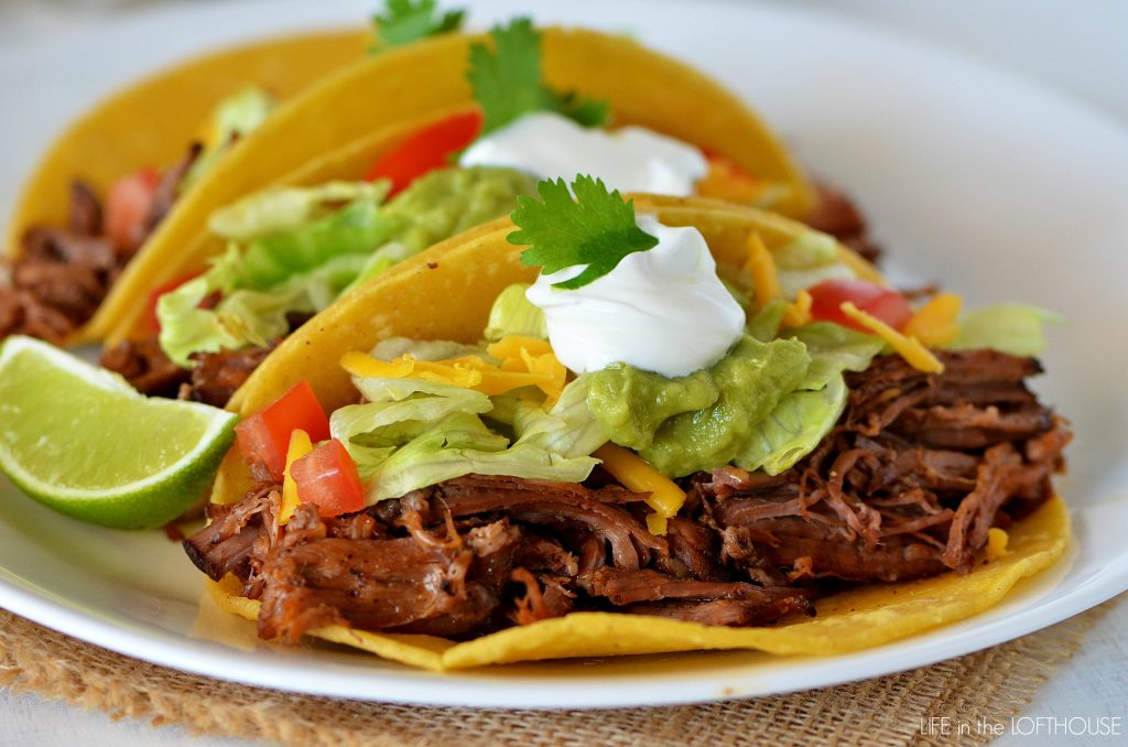 recipe has to be one of my favorites. These Shredded Beef Tacos ...