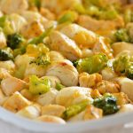 3-Ingredient Chicken and Broccoli Bubble Up