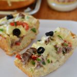 Italian Cheese Steak French Bread Pizza