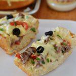 Italian Cheese Steak French Bread Pizza