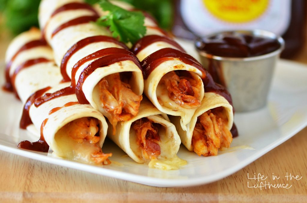 BBQ Chicken and Bacon Taquitos