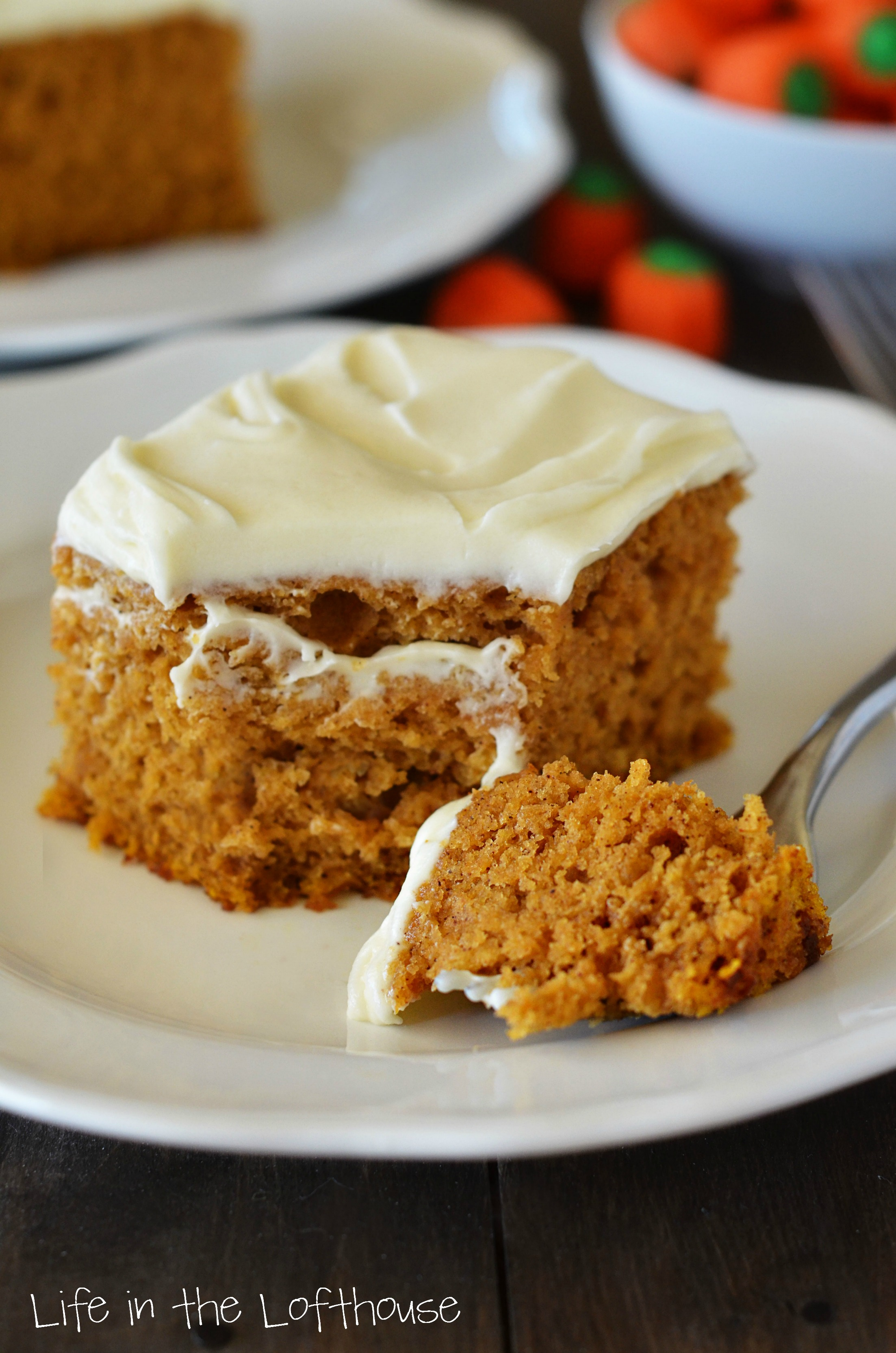 Pumpkin Pound Cake With Cream Cheese Frosting