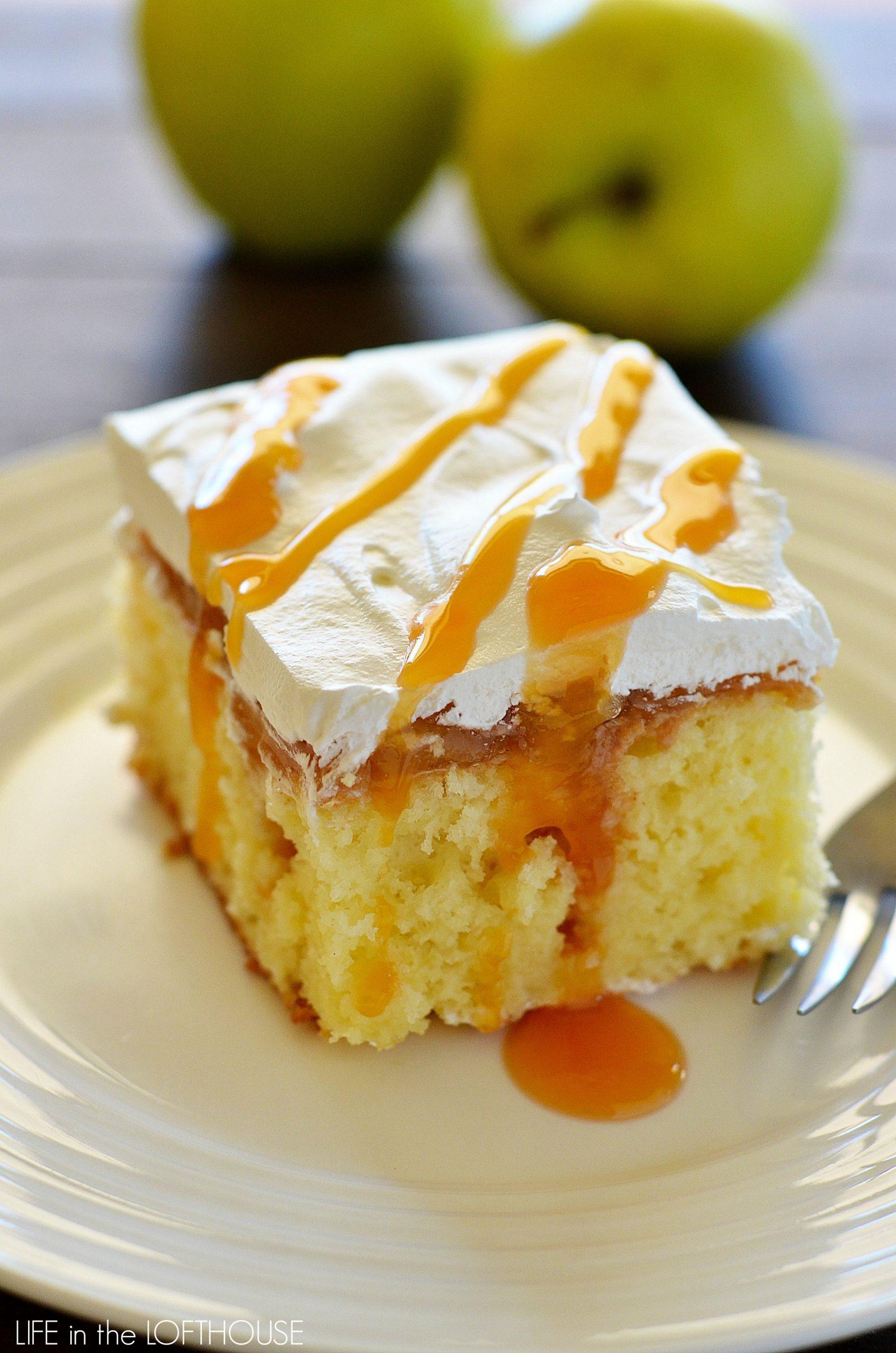 Caramel apple poke cake life in the lofthouse for Life in the lofthouse