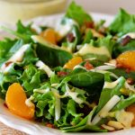 Spinach Salad with Bacon, Almonds and Oranges