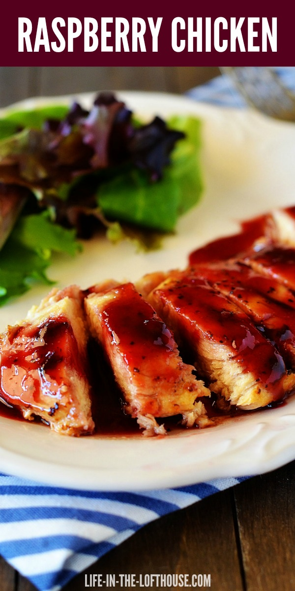 Raspberry Chicken is delicious and has a heavenly and mildly spicy raspberry sauce. Life-in-the-Lofthouse.com