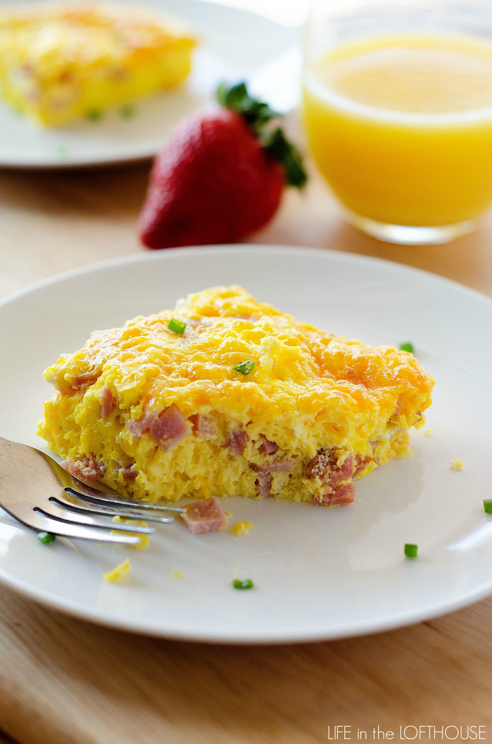 Baked Ham and Cheese Omelette - Life In The Lofthouse