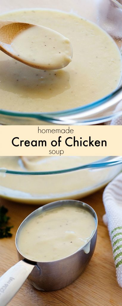 A delicious and super easy homemade version of condensed cream of chicken soup. Life-in-the-Lofthouse.com