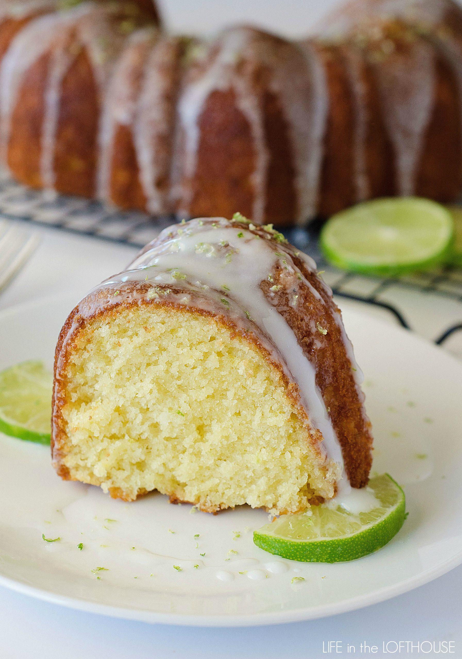 Cream Cheese Key Lime Pound Cake