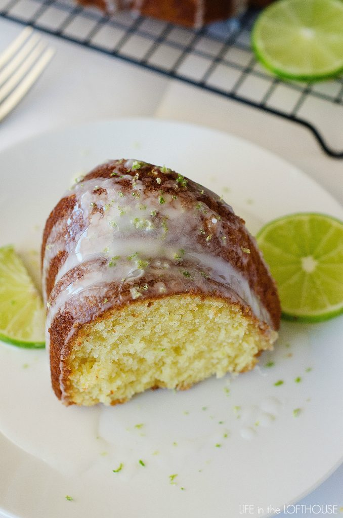 This Key Lime Bundt Cake is a moist cake with perfect lime flavor and a sweet glaze. Life-in-the-Lofthouse.com