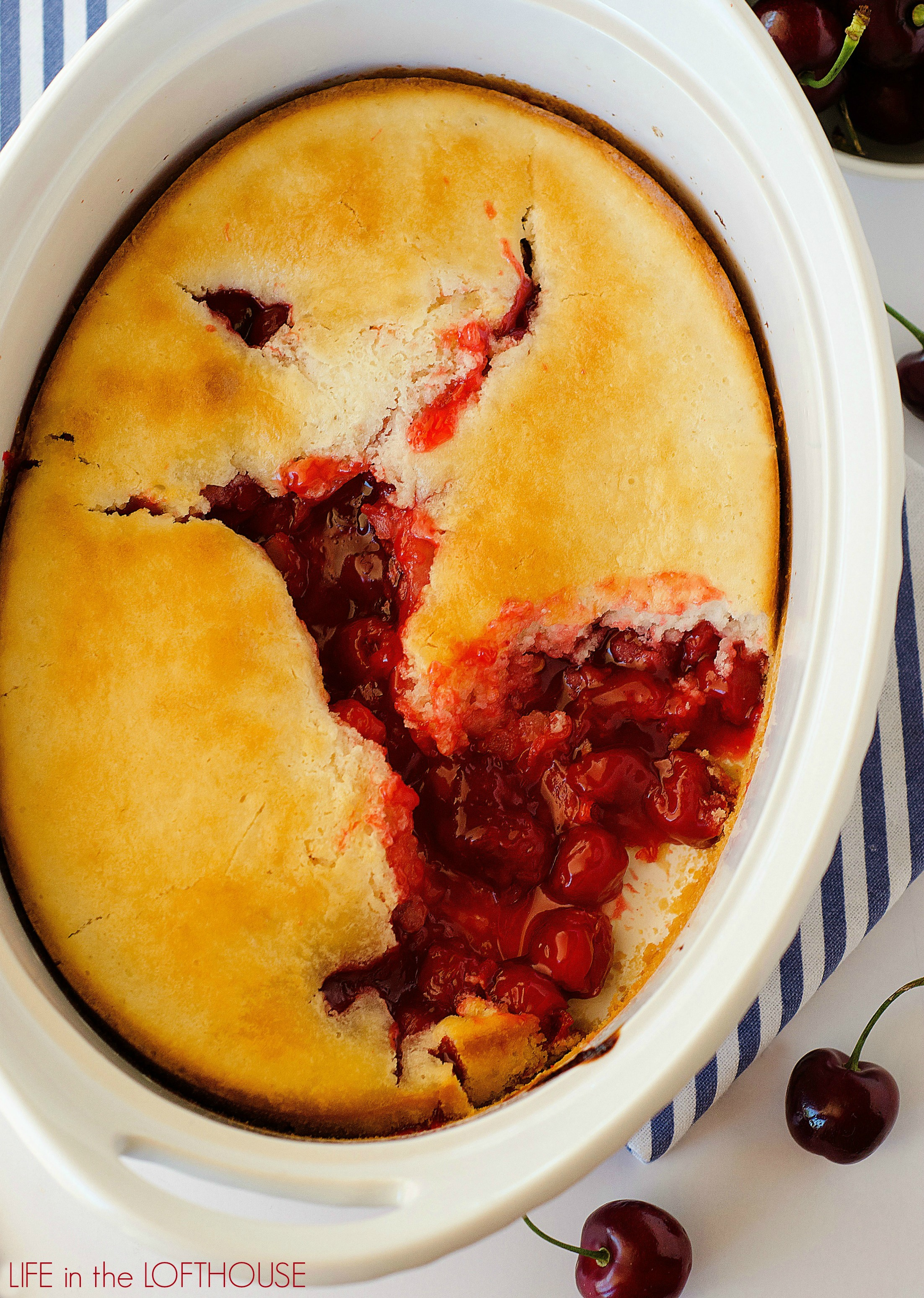 This Easy Cherry Cobbler is a simple treat that makes one delicious ...