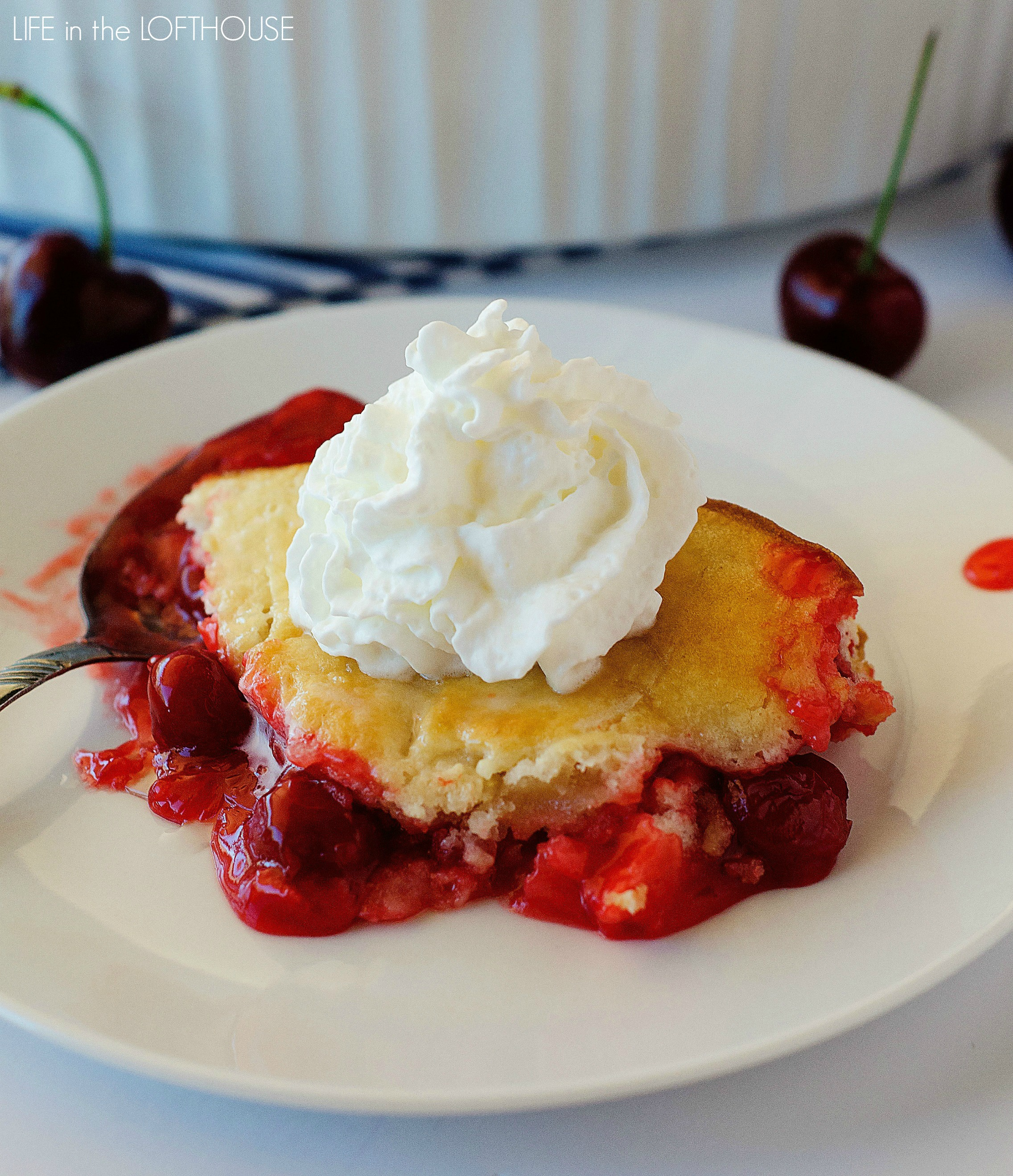 Fresh Cherry Cobbler With Cake Mix