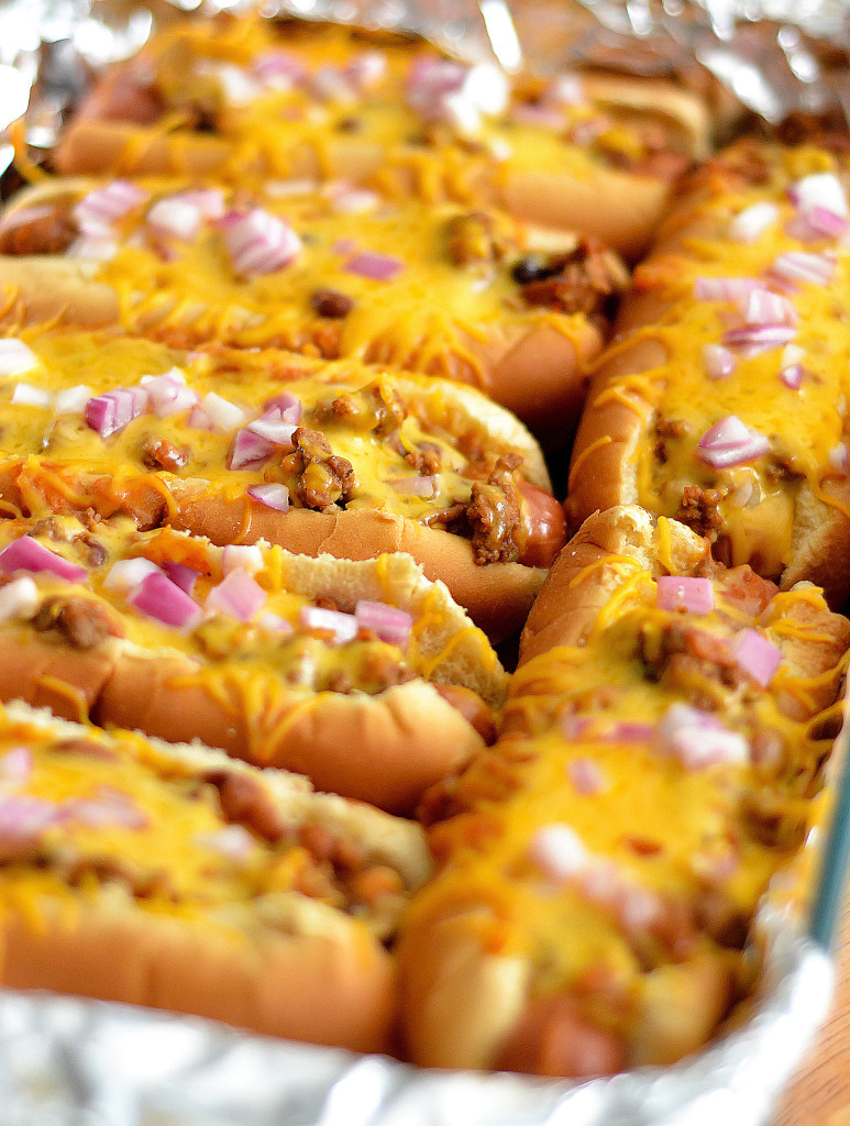 Chili Cheese Hot Dog Bake