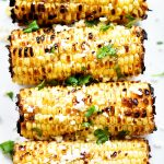 Grilled Corn with Cilantro-Lime Butter