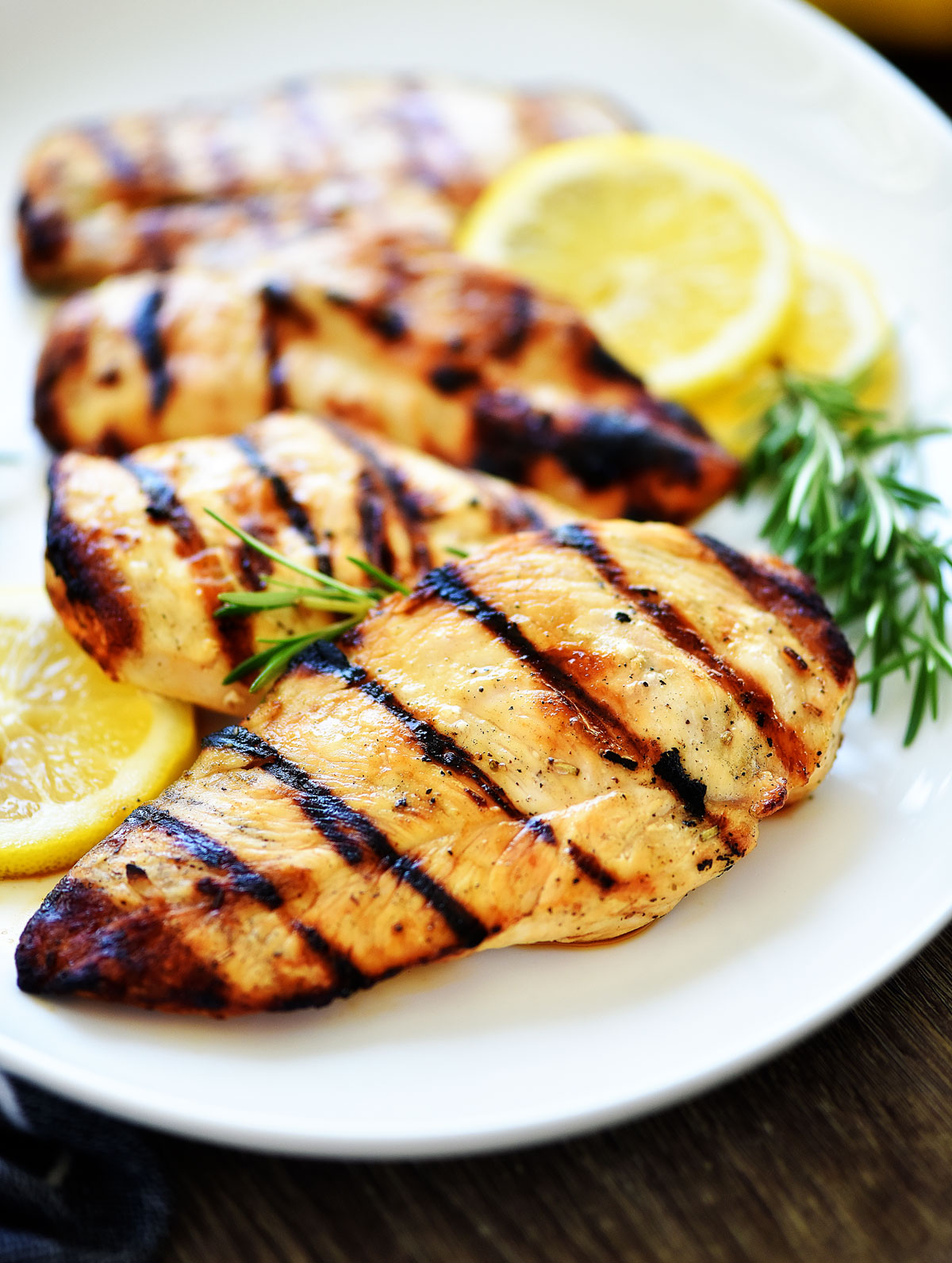 Grilled Lemon Chicken is tender pieces of chicken breast with lemon flavor. Life-in-the-Lofthouse.com
