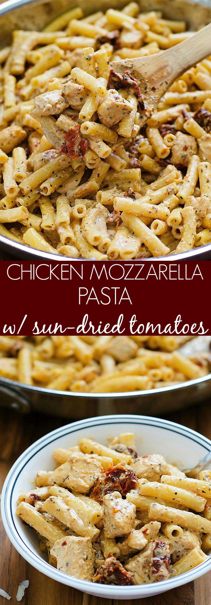 Chicken Mozzarella Pasta Recipe — Dishmaps