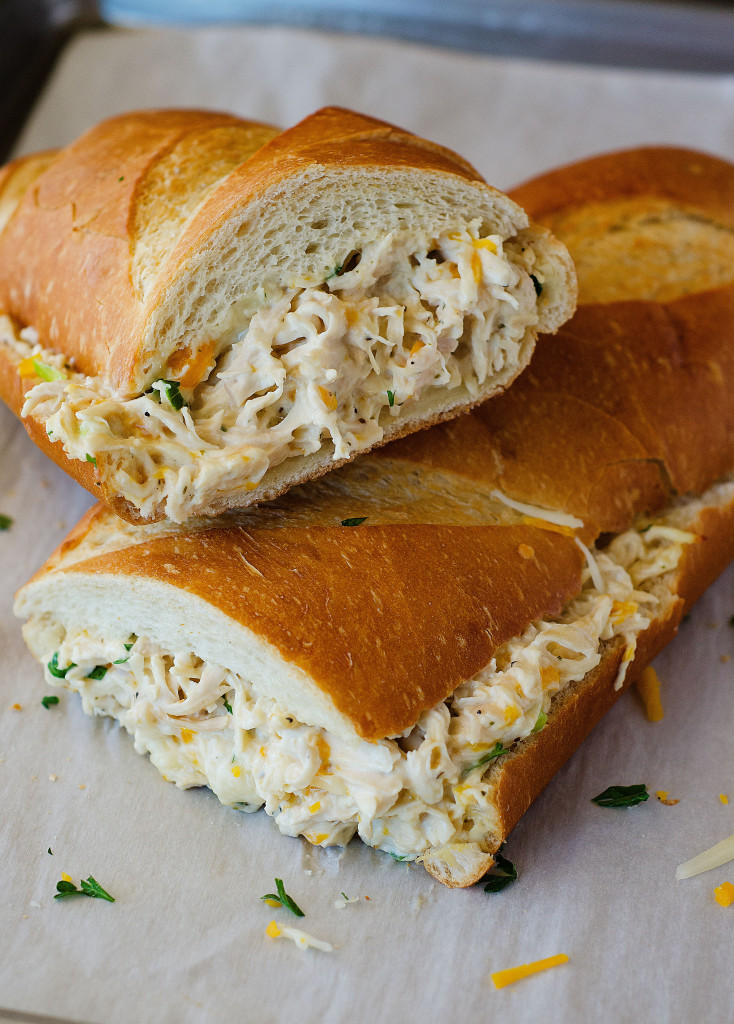 Chicken Stuffed French Bread