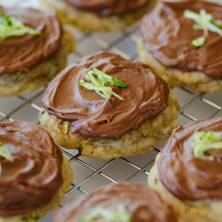 Zucchini Cookies with Chocolate Cream Cheese Frosting