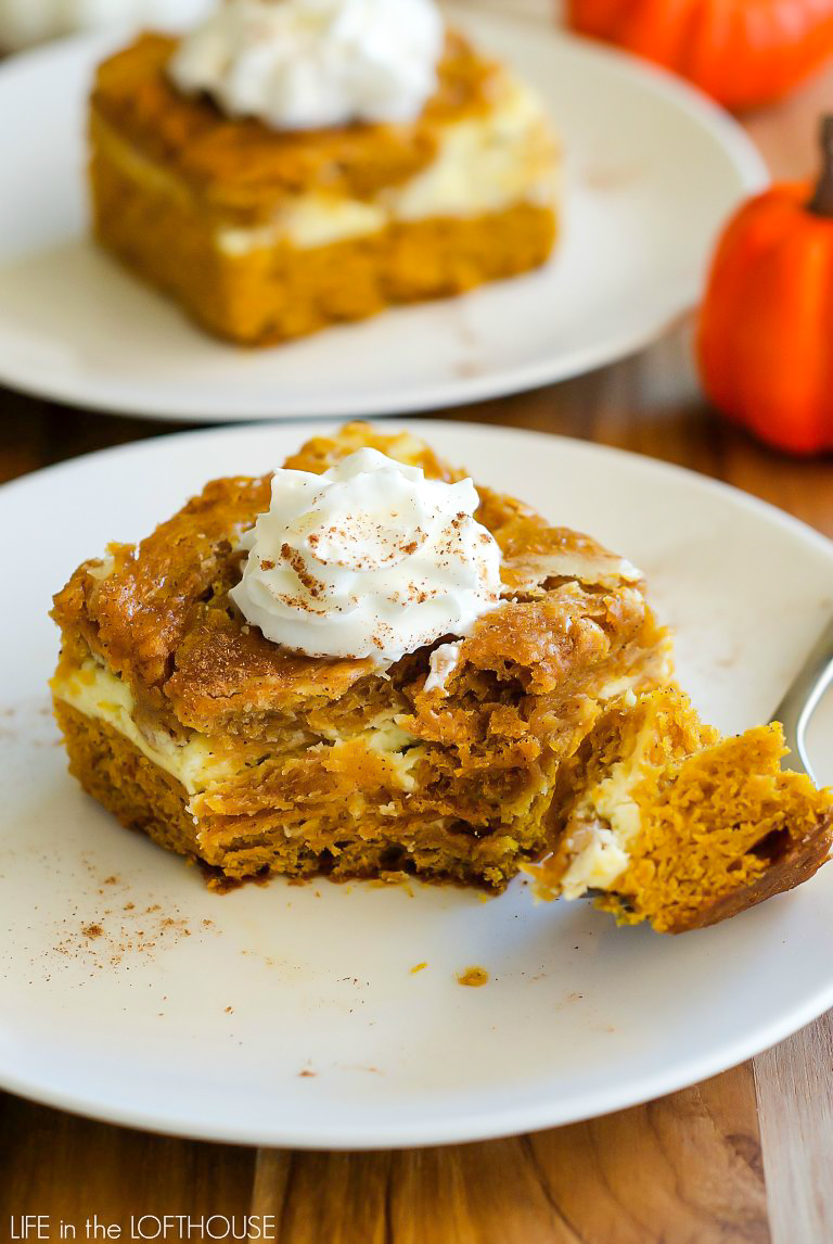Pumpkin roll cake is an easy and delicious pumpkin cake with a cream cheese layer. Life-in-the-Lofthouse.com